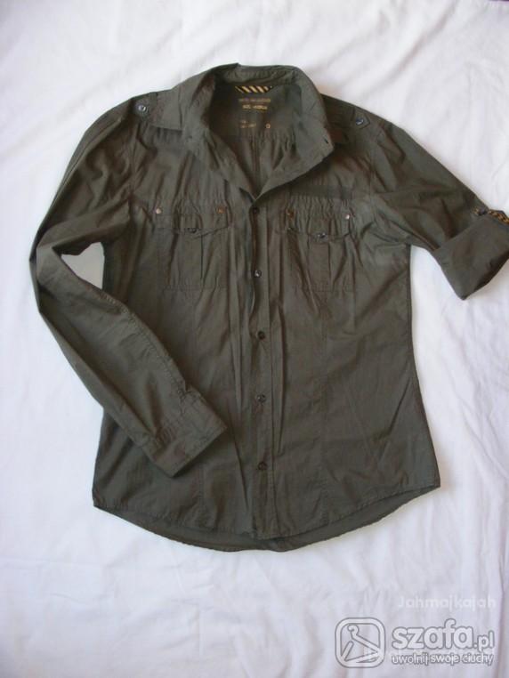 Modna militarna koszula damska roll up L XL Tanio w Koszule  lMcy7