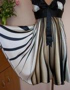 Śliczna Sukienka Tunika z Satyny