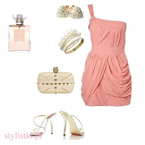Eleganckie Pudrowa elegancja