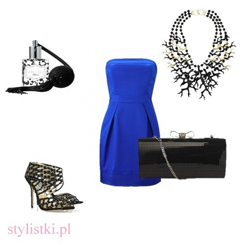 Eleganckie Elegancki kobalt