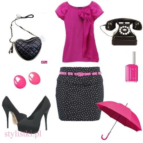 Eleganckie black and pink