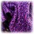Fioletowa apaszka w panterkę