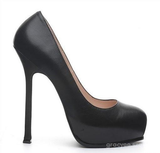 BUTY YVES SAINT LAURENT YSLTRIB TWO PLATFORM PUMPS