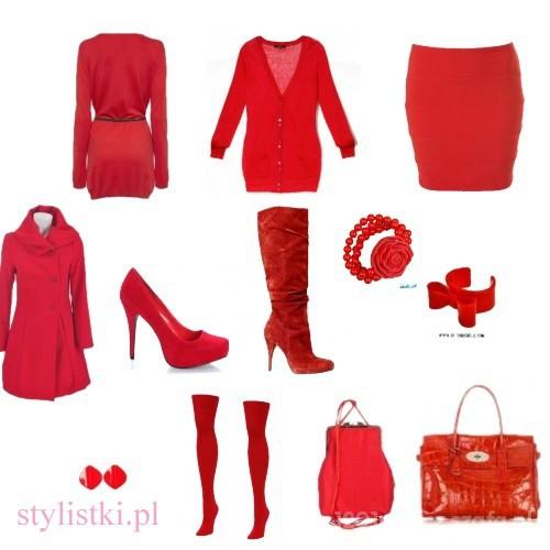 Eleganckie czerwień modna na jesień