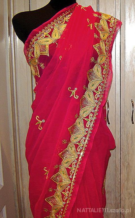 Mój styl sari różowe
