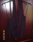 czerwono czarna imprezowa bluzeczka na szyje