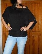 czarna szeroka bluzka