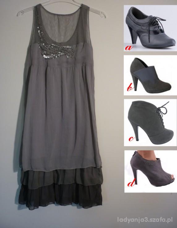 Wieczorowe Sukienka Promod które buty pomóżcie
