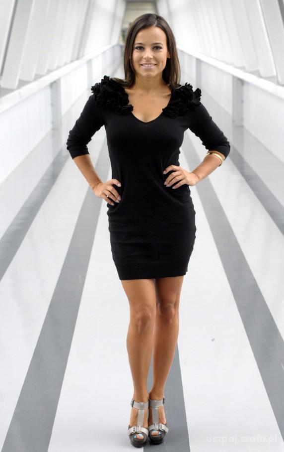 Eleganckie Czarna sukienka H M Anna Mucha