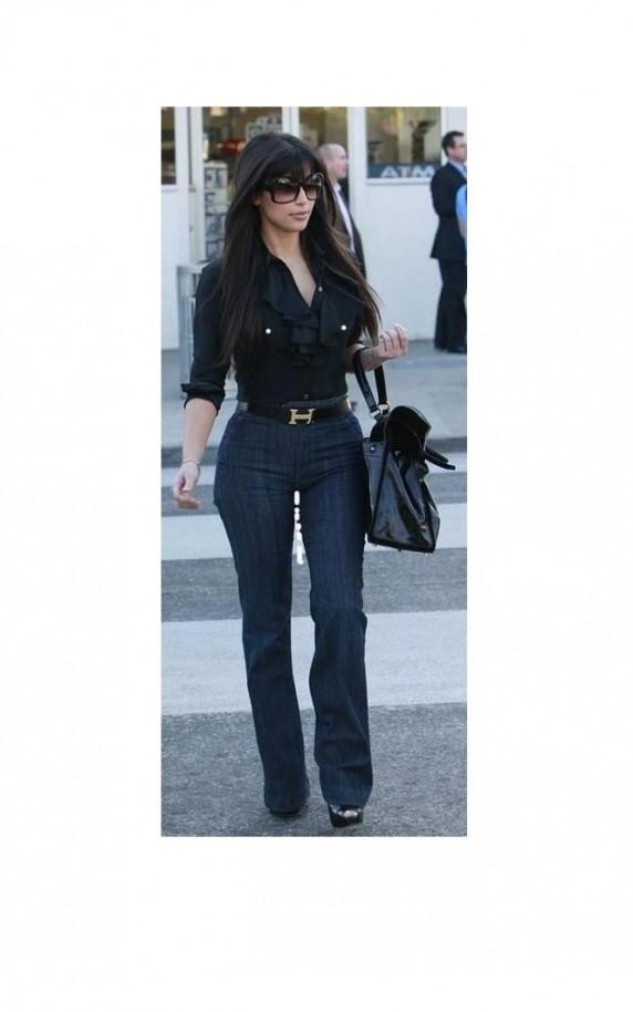 Kim Kardashian w kobiecych spodniach