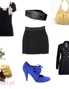 Beżowo czarno eleganco