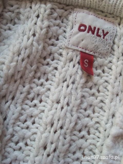cena z przesyłką rozpinany sweter beżowy ONLY S