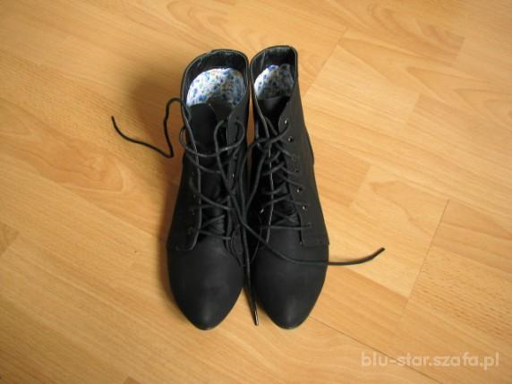 Czarne botki r37