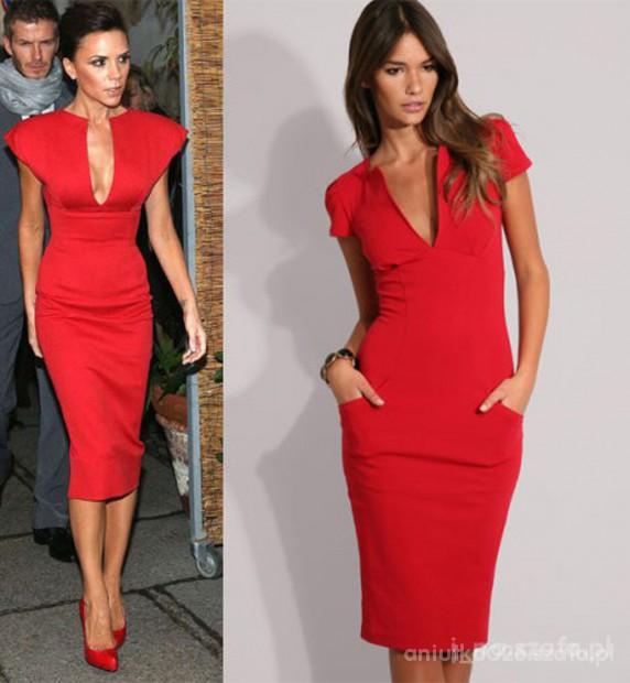 Eleganckie Seksowna czerwień