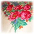 Chusta folklorystyczna folkowa kwiaty