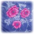 granatowa chusta róż kwiatki