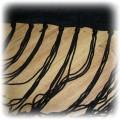 Czarna apaszka chusta z frędzlami Marks Spencer