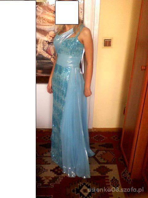 Wieczorowe Niebieska suknia na wesele