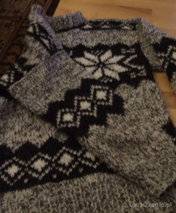 c415e9438eaf sweter góralski owcza wełna NOWY L XL WYMIANA w Swetry - Szafa.pl