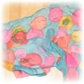 piękna kolorowa duża apaszka naturaly jedwab