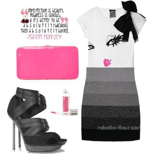 Eleganckie Bandażowa spódnica plus dodatki