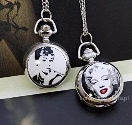VINTAGE zegarek z Audrey Hepburn i Marilyn Monroe