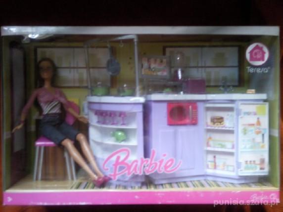 Zabawki NOWOŚĆ Barbie mebelki kuchnia plus LALKA