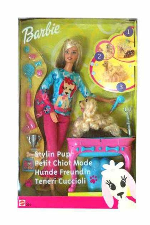 Zabawki Barbie stylistka psiaków blondynka 56684