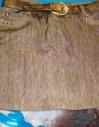 Spódnica w kolorze złotobrązowym...