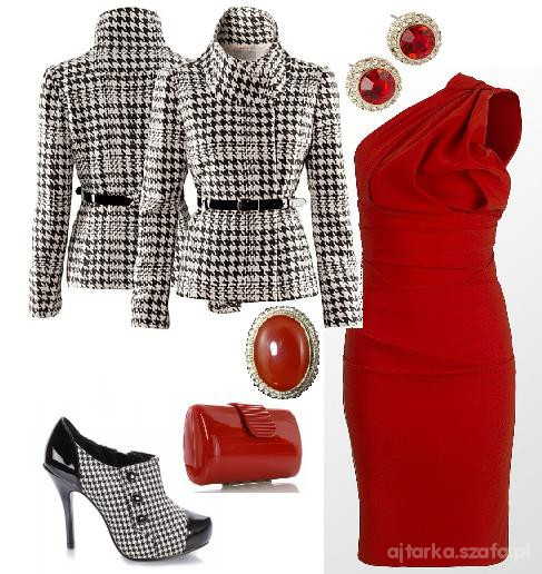 Eleganckie czerwony