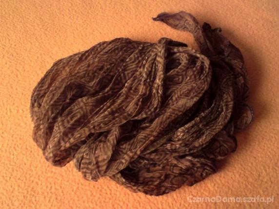 Chusty i apaszki chustka apaszka brazowa w kwadraty
