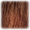 chustka apaszka brazowa w kwadraty