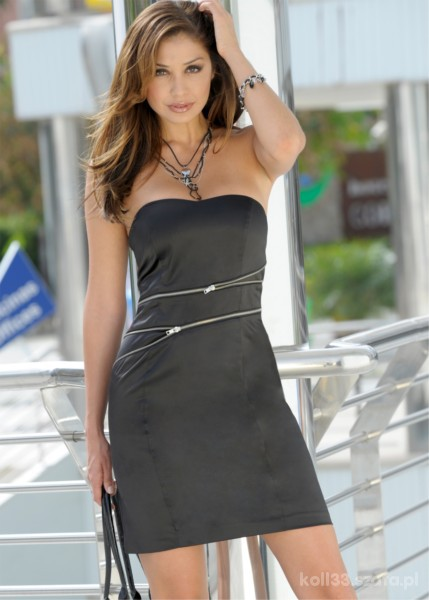 sukienka z satyny