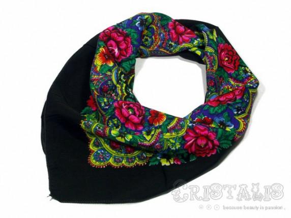 Chusty i apaszki Kwiatowa ludowa chustka floral