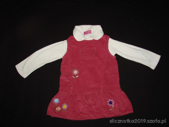 Komplety Komplecik 92 cm sukienka i bluzeczka REPORTER