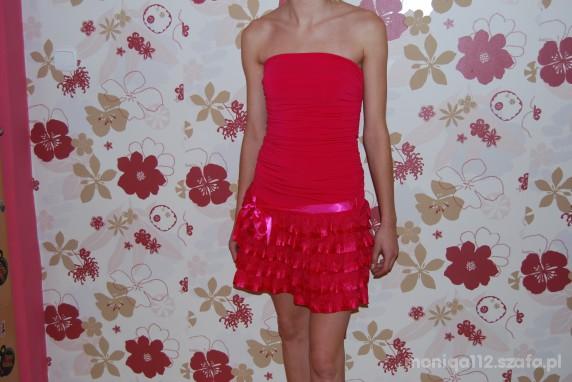 Imprezowe różowa sukienka