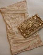 Cudna TopShop Bandage Dress Cream M