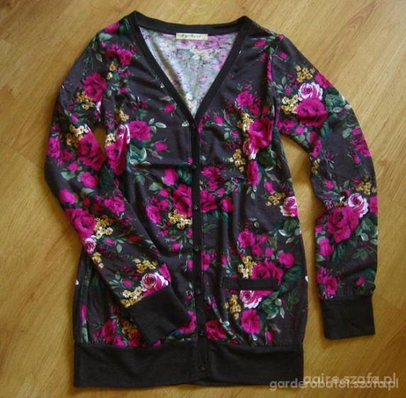long bluzeczka w kwiaty L