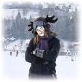 czapa renifer snowboard snieg
