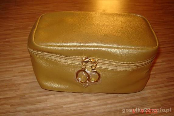 Poważnie Estee Lauder piękna złota kosmetyczka w Kosmetyczki i kuferki VV89