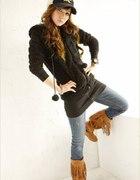 291 bluza kurtka miś czarna LOEL Japana Style GRAT