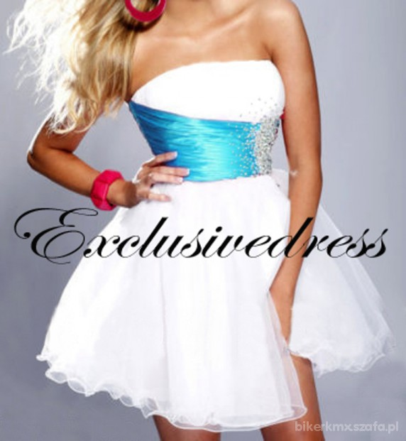 Wieczorowe biała sukienka