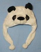 Nowa puchata ciepla czapka panda