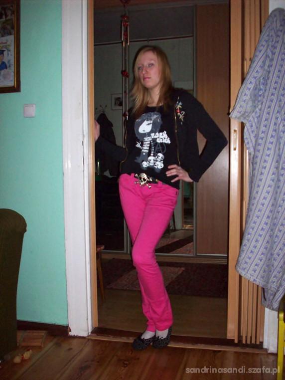 Mój styl Rurki różoweTshirt