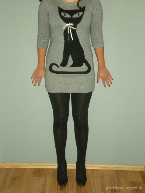 Swetry Sweter z kotem New Look