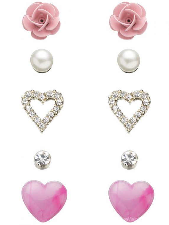 5 X PRETTY BOUDOIR STUD EARRING SET...