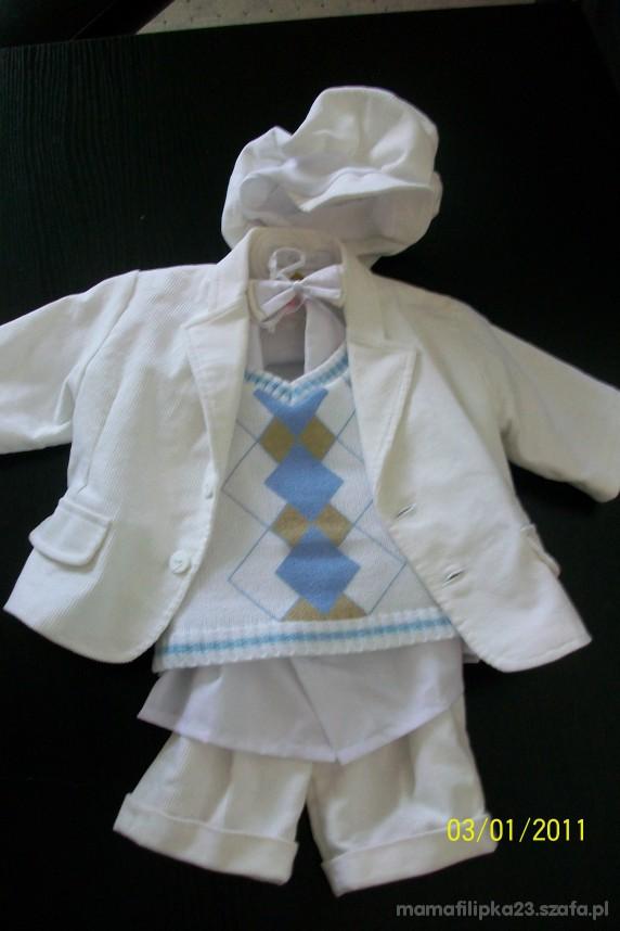 Komplety ubranko do chrztu od2 do 5mies 6 czesci