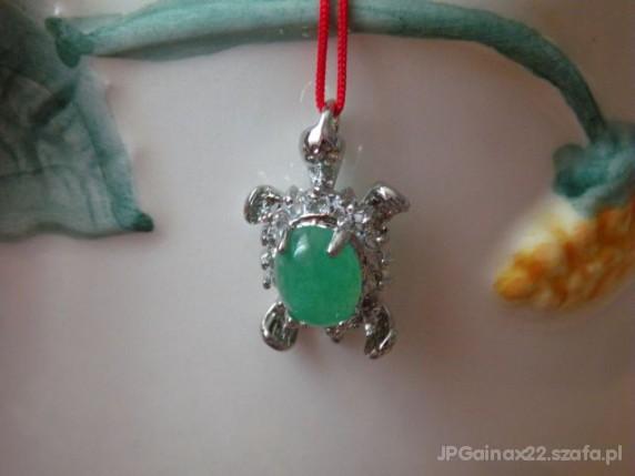 Zawieszki Żółw z zielonym jadeitem 1