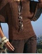 brazowy sweterek