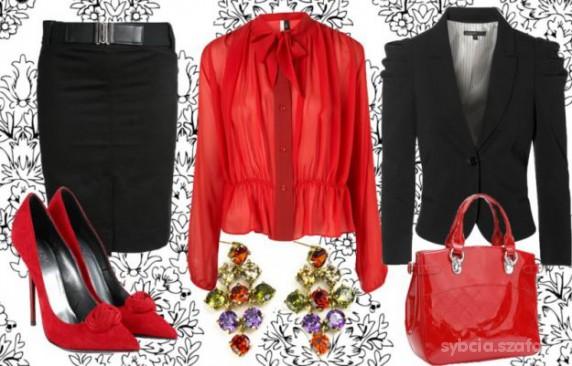 Eleganckie Hipnotyzująca czerwień